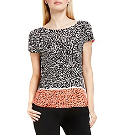 Vince Camuto® Drop Shoulder Animal Print Top