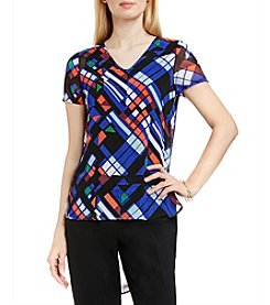 Vince Camuto® Graphic Map Blouse