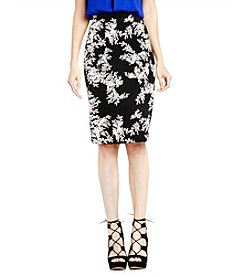 Vince Camuto® Delicate Floral Print Foliage Skirt