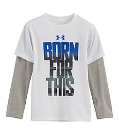 Under Armour® Boys' 4-7 Layered Born For This Tee