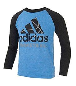 adidas® Boys' 2T-7 Basketball Raglan Tee