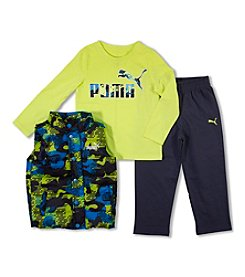 PUMA® Boys' 2T-4T 3-Piece Printed Vest Set
