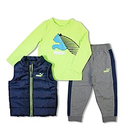 PUMA® Boys' 2T-4T 3-Piece Vest Set