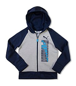 PUMA® Boys' 8-20 Full-Zip Colorblock Hoodie