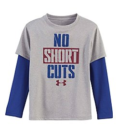 Under Armour® Boys' 2T-7 No Shortcuts Layered Tee