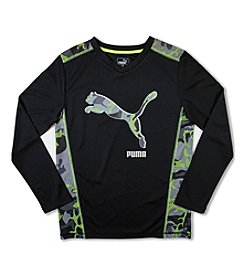 PUMA® Boys' 4-20 Big Cat Camo Tee
