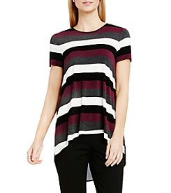 Vince Camuto® Chalk Stripe Chiffon Back Top