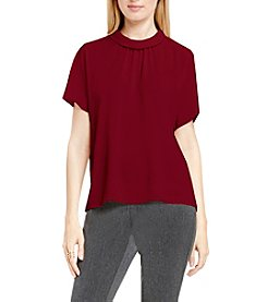 Vince Camuto® Shirred Mock Neck Top