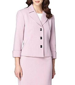 Tahari ASL® Turn Key Button Front Jacket