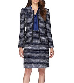 Tahari ASL® Textured Open Front Jacket