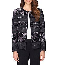 Tahari ASL® Floral Stripe Jacket