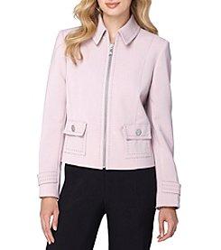 Tahari ASL® Zip Front Ponte Jacket