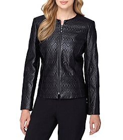 Tahari ASL® Patterned Leather Jacket