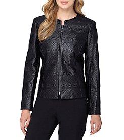 Tahari ASL® Patterned Leather Jacket