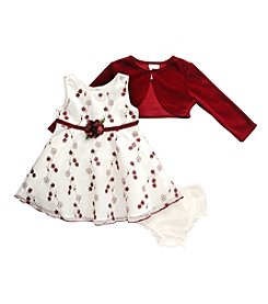 Sweet Heart Rose® Baby Girls' 3-Pc. Floral Dress Set