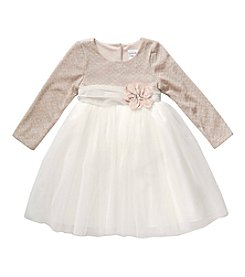 Sweet Heart Rose® Baby Girls' Glitter Chevron Dress