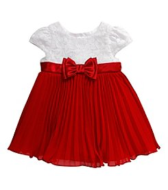 Sweet Heart Rose® Baby Girls' Pleated Lace Dress