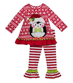 Rare Editions® Baby Girls' 2-Piece Penguin Tunic and Leggings Set