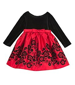 Rare Editions® Baby Girls' Floral Hem Dress