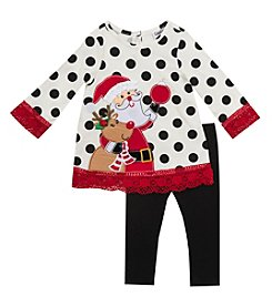 Rare Editions® Baby Girls' 2-Piece Rudolph Tunic and Leggings Set