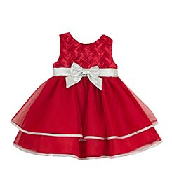Rare Editions® Baby Girls' Basket Weave Tulle Dress