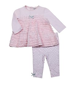 Wendy Bellissimo Baby Girls' 2-Piece Ruffled Top and Leggings Set