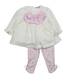 Wendy Bellissimo Baby Girls' 2-Piece Bow Sweater and Leggings Set