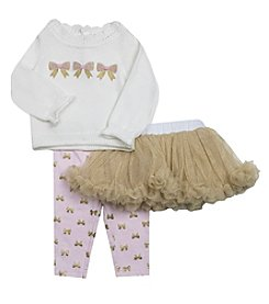 Wendy Bellissimo Baby Girls' 3-Piece Bow Tutu Set