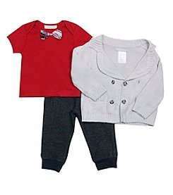Wendy Bellissimo Baby Boys 3-Piece Bow Tie Joggers Set