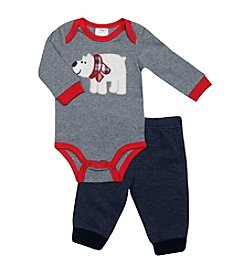 Baby Essentials® Baby Boys 2-Piece Polar Bear Bodysuit Set