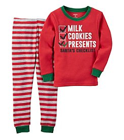 Carter's® Boys' 12M-7 2-Piece Santa's Checklist Pajama Set