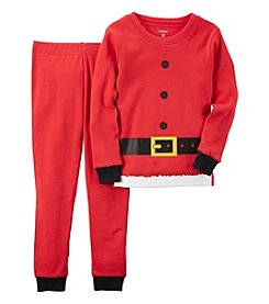 Carter's® Boys' 12M-7 Cotton 2-Piece Santa Suit Pajama Set