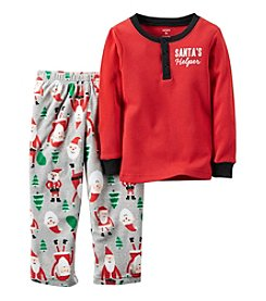 Carter's® Boys' 12M-12 2-Piece Santa's Helper Pajama Set