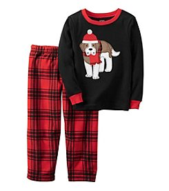 Carter's® Boys' 12M-12 Cotton Thermal & Fleece 2-Piece St. Bernard Pajama Set