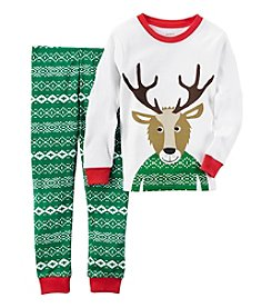 Carter's® Boys' 12M-7 2-Piece Fair Isle Reindeer Pajama Set