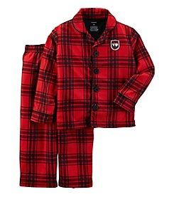 Carter's® Boys' 2-Piece Plaid Coatfront Pajama Set