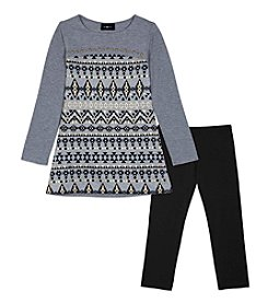 Amy Byer Girls' 7-16 2-Piece Geo Tunic and Leggings Set