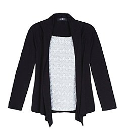 Amy Byer Girls' 7-16 Layered Chevron Lace Cozy