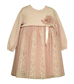 Bonnie Jean® Girls' 2T-4T Lace Accent Sweater Dress