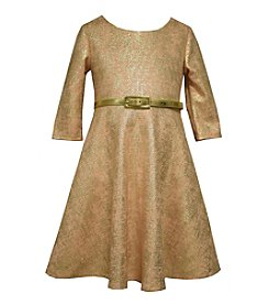 Bonnie Jean® Girls' 4-6X Belted Metallic Skater Dress