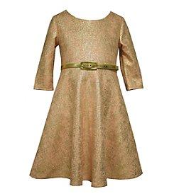 Bonnie Jean® Girls' 4-6X Belted Metallic Skater Dress