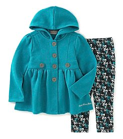 Calvin Klein Jeans Girls' 2T-6X 2-Piece Peplum Jacket And Heart Leggings