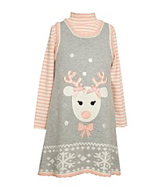 Bonnie Jean® Girls' 2T-6X 2-Piece Reindeer Jumper Set
