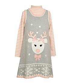Bonnie Jean® Girls' 2T-6X 2-Piece Reindeer Jumper Set