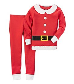 Carter's® Girls' 12M-7 2-Piece Cotton Santa Suit Pajama Set