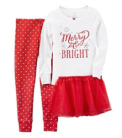 Carter's® Girls' 12M-7 3-Piece Cotton Holiday Tutu Pajama Set