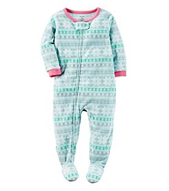 Carter's® Girls' 12M-8 One-Piece Fleece Fair Isle Sleeper