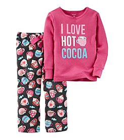 Carter's® Girls' 12M-7 2-Piece Cotton & Fleece Hot Cocoa Pajama Set