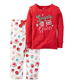 Carter's® Girls' 2-Piece Sugar & Spice Pajama Set