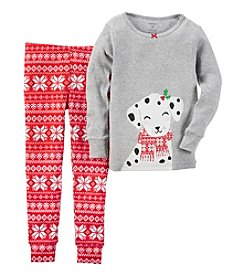 Carter's® Girls' 12M-7 2-Piece Dalmatian Fair Isle Pajama Set